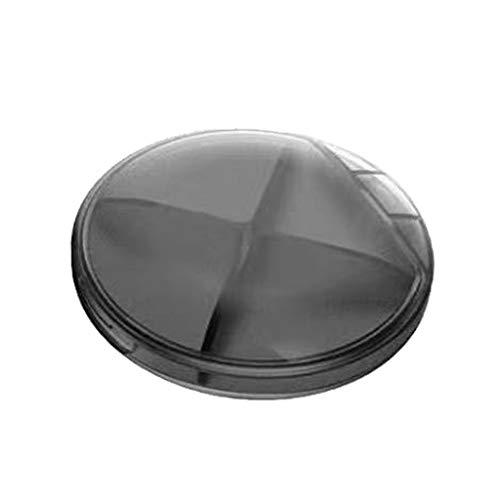 Mini Caja De Joyería Organizador De Almacenamiento Portátil Transparente con Tapa 4 Cuadrícula Linda Caja De Pastillas para (Color : Black)