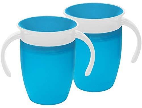 Vaso entrenador 360 color azul de la marca Munchkin Miracle azul Blue (2 Pack)