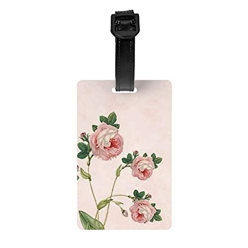 Etiqueta de equipaje de flores Protección de privacidad Etiqueta de bolsa de viaje Etiqueta de maleta