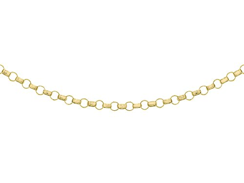 Carissima Gold Women's 9 ct Yellow Gold 1.3 mm Round Belcher Chain Necklace of Length 51 cm/20 Inch