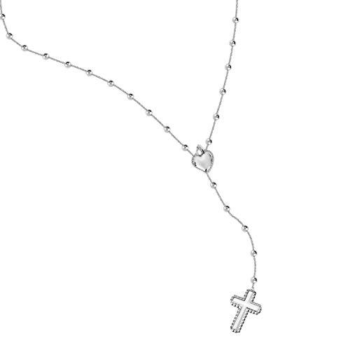 Morellato Collana da donna, Collezione Devotion, in acciaio, cristalli - SARJ07