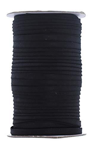 Mandala Crafts - Cinta al bies de doble pliegue para costura, costura, encuadernación, dobladillo, ribete, acolchado, 1/4 pulgadas, 55 yardas, color negro