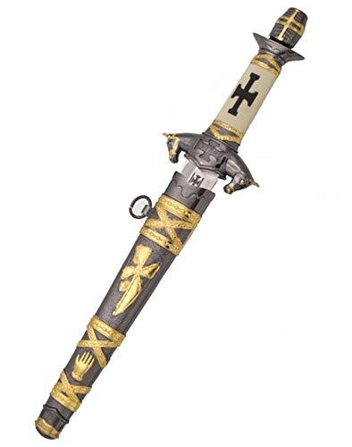 ECOMMUR Daga Caballero Medieval | Cuchillo-puñal templario histórico