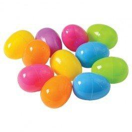 Plastic Bright Easter Egg Assortment 50 Pcs Perfect for Easter Egg Hunt/Surprise Egg/Easter Hunt