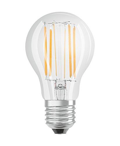 Osram LED SuperStar Classic A Lampe, in Kolbenform mit E27-Sockel, dimmbar, Ersetzt 75 Watt, Filamentstil Klar, Warmweiß - 2700 Kelvin, 6er-Pack