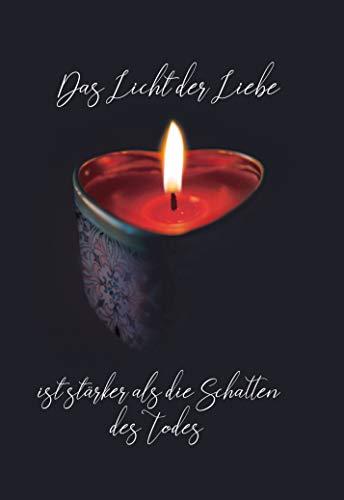 Anteilnahme Karte, Beileidskarte, Trauerkarte, im Format DIN B6 176 x 125 mm cm, Klappkarte mit Umschlag, Motiv: Kerze