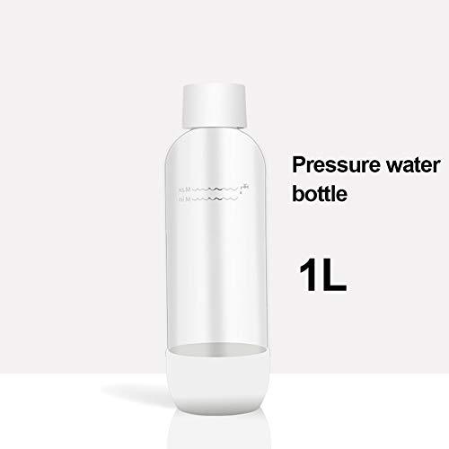 Máquina para soda, Máquina Para Gasificar Bebidas Botella de agua PET de 1 litro - hogar/oficina/fiesta reutilizables y recargables,1L