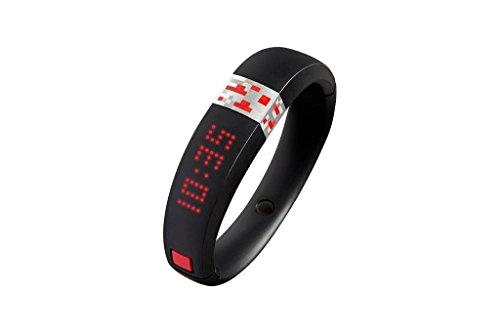 Gameband Armband aus thermoplastischem Polyurethan mit Verschluss, groß, Schwarz