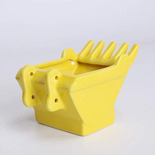 Guuisad Cenicero de la mesa, cenicero cerámico cenicero creativo bandeja de ceniza casero sala de estar oficina decoración cenicero regalo cenicero para amigos ceniza bandeja (Color : Yellow)