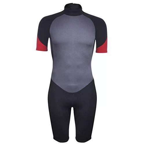 vidaXL Traje de Neopreno Corto Hombre 180-185cm 2,5mm XXL Deporte acuáticos Surf
