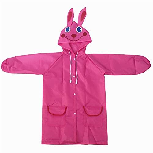 SHUJINGNCE 1 stück Cartoon Tier Stil wasserdichte Kinder Regenmantel Für Kinder Regen Mantel Regenbekleidung/Regenanzug Student Poncho (Color : Yellow)