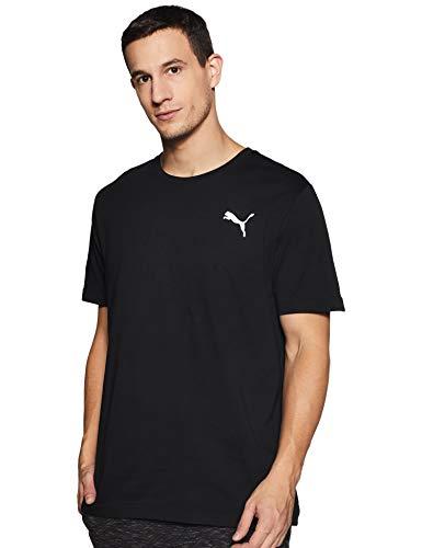 PUMA Herren ESS S Logo Tee T-Shirt, Schwarz (Cotton Black_Cat), XL