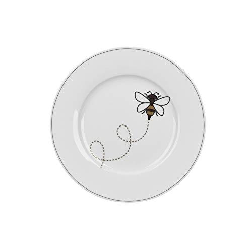 Krasilnikoff - Teller, Kuchenteller - Let it Bee - Porzellan - Ø20 cm