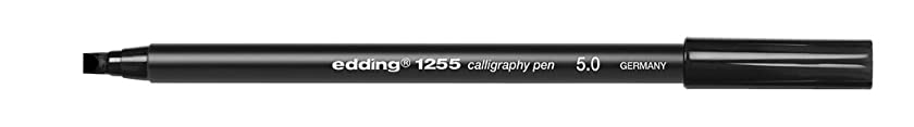 Edding EDD 12555 B1255001 5 mm 1255 Calligraphy Pen - Broad - Black