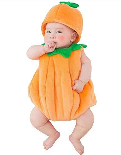 Turkoni Newborn Baby Photography Props Boy Girl Costume Outfits Cute Hat Pants/Halloween Pumpkin Costume (Pumpkin)