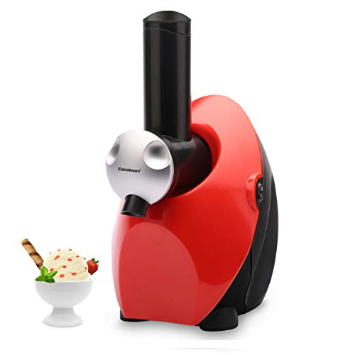 Homemade Frozen Fruit Yogurt Dessert Maker, Automatic Healthy Ice Cream Maker Electric Machine, Sweet Treat Smoothie Sorbet Maker Blender by Excelvan (Red)