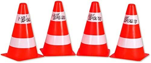 New Sports - 63086 - Lot de 4 cônes de signalisation, H: 23 cm