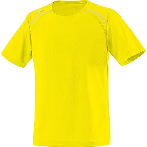 JAKO T-Shirt Run pour Homme, Homme, 6115, Jaune Fluo, 140 cm