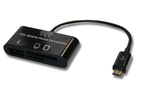 USB Host OTG (on The go) Cable Adaptador con Lector de Tarjetas para Varios Dispositivos con Puerto Micro-USB, como Nokia CA-157, Samsung ET-R205U.