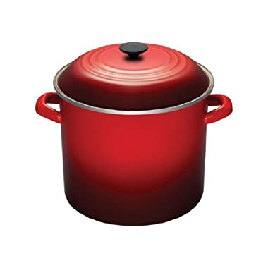 Le Creuset Enamel-on-Steel 16-Quart Covered Stockpot, Cerise (Cherry Red)