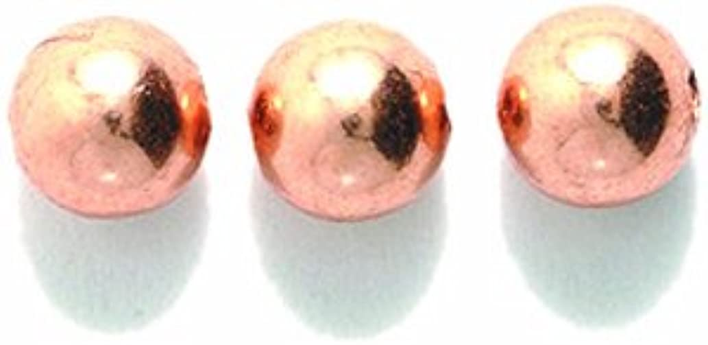 Shipwreck Beads Metal Copper Smooth Round Bead, 6mm (24 Pieces)