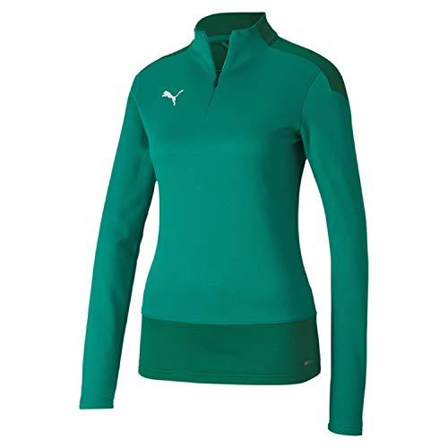 PUMA Damen teamGOAL 23 1/4 Zip Top W Trainingsoberteil, Pepper Green-Power Green, M