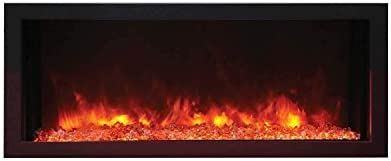 Amantii Panorama Indoor Outdoor Extra Slim Built in Electric Fireplace BI 40 XTRASLIM 40 Inch product image