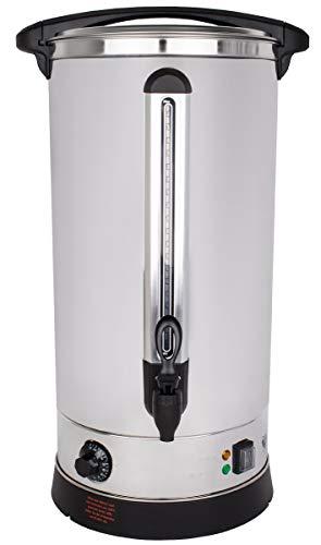 Beeketal 'BGWK30' Gastro Glühweinkocher 30 Liter Volumen mit Füllstandskala, Anit-Tropf Zapfhahn und stufenlos regelbarem Thermostat (30-110 °C), Profi Edelstahl Wasserkocher mit 2500 Watt Leistung