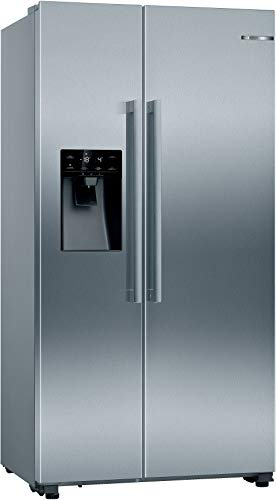 Bosch KAI93VIFPG Serie 6 American Side-by-side Fridge Freezer With Ice & Water Dispenser - Easyclean Stainless Steel