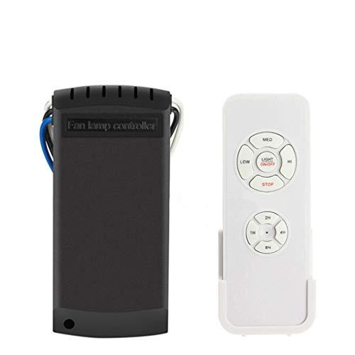 teng hong hui Lámpara de Ventilador de Techo Universal Kit de Control Ventilador de Techo Interruptor de Control inalámbrico Interruptor Ajustado Velocidad del Viento Receptor del transmisor