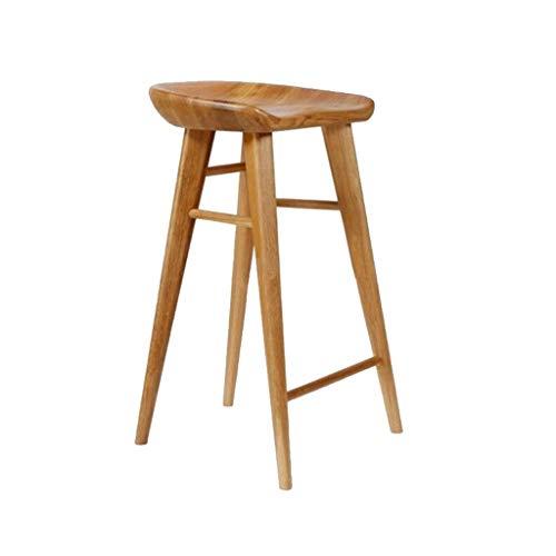 Xia Yuuu Vrijetijdsstoel barkruk, massief hout huishouden eenvoudige vrije tijd hoge kruk barkruk stoel eetkamer stoel reception stoel zithoogte 55 cm hoge stoelen voor thuis