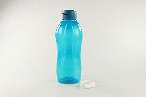 Tupperware - Botella ecológica con soporte y cierre de clip To Go Eco 30941, 2 l, color azul