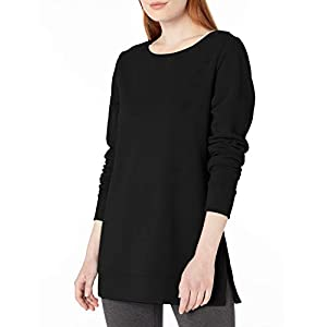Amazon Essentials Women's Open-Neck French Terry Fleece Tunic