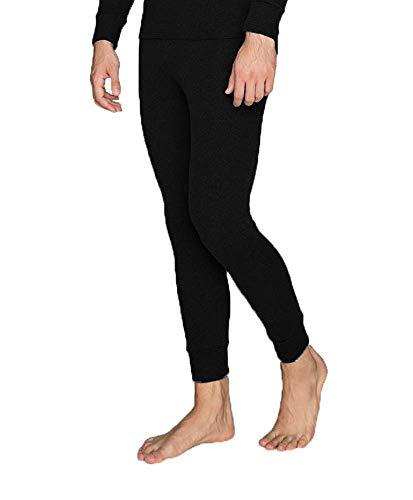 best basics Pantaloni termici da uomo invernali, caldi, biancheria intima da sci Nero L