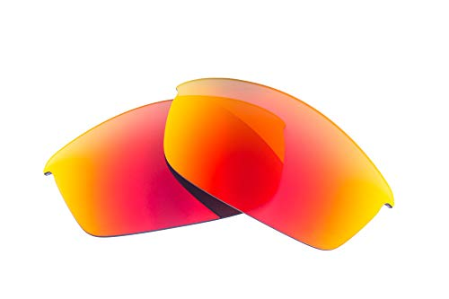 LenzFlip Lenses Compatible with Oakley FLAK Jacket - Gray Polarized With Red Mirror