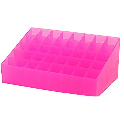 Cabilock 40 fentes porte-rouge à lèvres porte-présentoir à bijoux porte-documents organisateur de boîte de rangement pour magasin à domicile (rose)