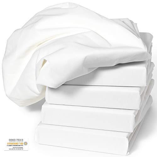Spannbezug COMFORT für Massageliege weiß 70x190x10 cm 1 Stück PREMIUM Liegenbezug OEKO-TEX® geprüft ORIGINAL Dr. Güstel Waschfaserlaken