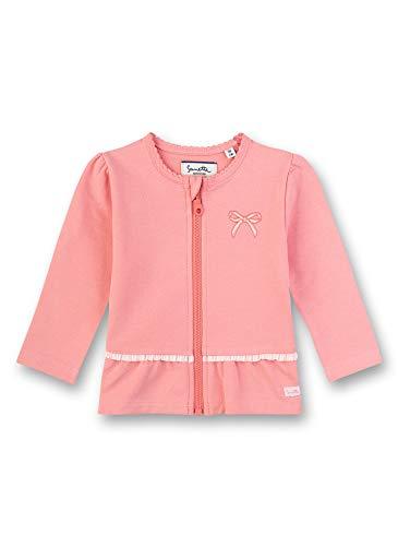 Sanetta Baby-Mädchen Fiftyseven Sweatjacke, Rosa (Rosa 38092), 80 (Herstellergröße: 080)