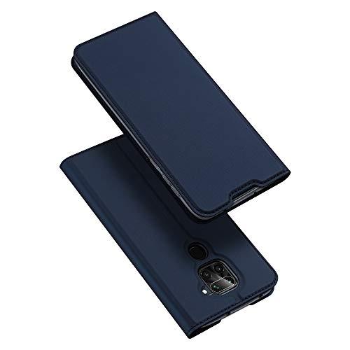 DUX DUCIS Hülle für Redmi Note 9, Leder Flip Handyhülle Schutzhülle Tasche Hülle mit [Kartenfach] [Standfunktion] [Magnetverschluss] für Xiaomi Redmi Note 9, Blau