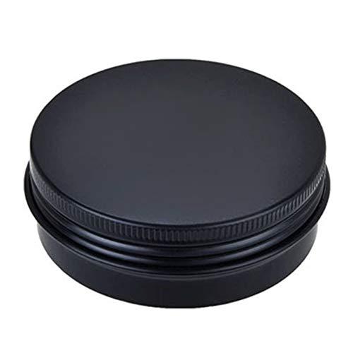 MHXY Mini-Flaschen 30 stücke 60g / 2oz Aluminium Glas leer kosmetische Metall Creme Gesicht Maske tins Container schönheit hautpflege Tool Matte schwarz Silber Geteilte Flasche