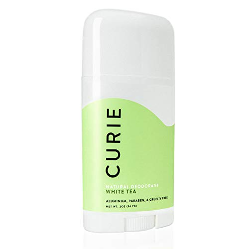 Curie All-Natural Deodorant Stick for Men and Women | Aluminum-Free, Paraben-Free, Cruelty-Free | White Tea