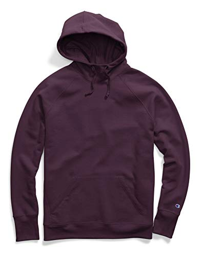 Champion Powerblend Fleece Pullover Hoodie - Applique Y07461 Dark Berry Purple XL