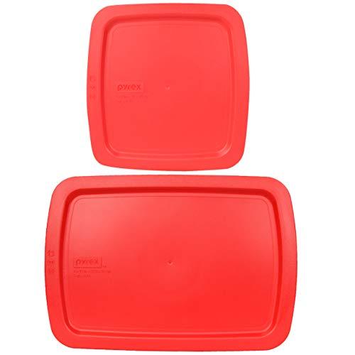 Pyrex (1) C-222-PC 2 Quart (1) C-233-PC 3 Quart Rojo Easy Grab Baking Dish Tapas – 2 Pack (no apto para bandeja de horno estándar)