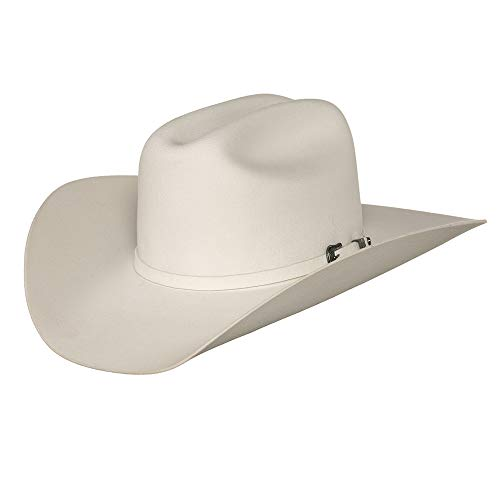 RESISTOL Men's 2X Pageant Wool Felt Cowboy Hat White 7 3/8