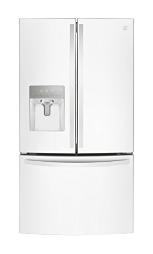 Kenmore 73102 French Door Smart Refrigerator, 27.9 cu. ft. in White-Works with Alexa and enabled...