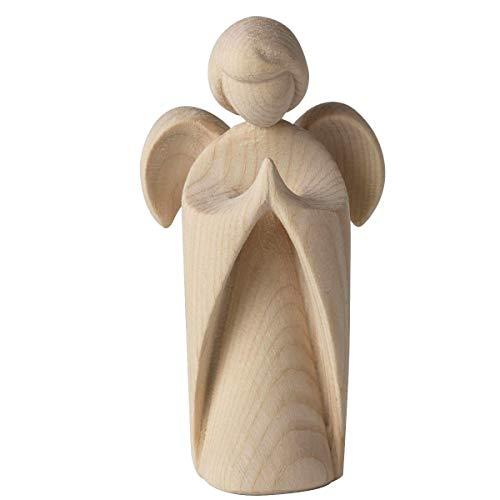 4betterdays.com NATURlich leben! Klassischer Schutzengel aus Zirbenholz - betend - Höhe 9cm - Geschenk zur Taufe oder zu Weihnachten - handgeschnitzt aus Südtirol