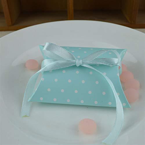 Encantador 50 unids Kraft Forma de almohada Caja de regalo 10 diseños Caja de regalo de la almohada de la caja de caramelo de color sólido europeo para la decoración del partido del favor de la boda P
