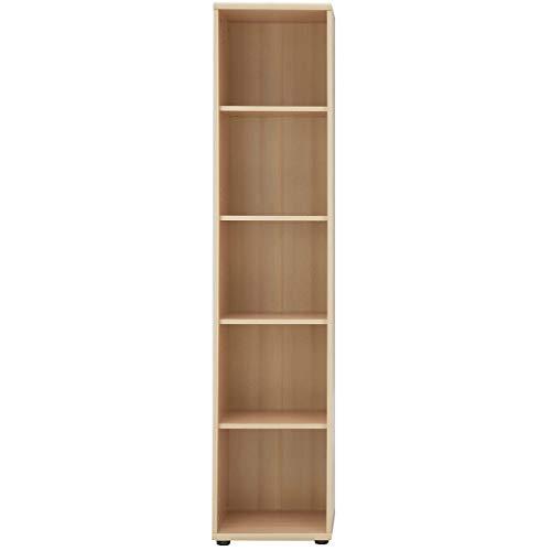 Möbelpartner Aktenregal SERIE 1200 | HxBxT 1820 x 400 x 340 mm| Buche | Aktenregal Schrank Regal Büroschrank Schiebetürenschrank
