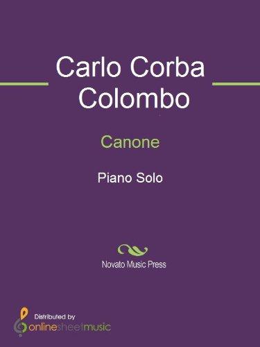 Canone - Piano (English Edition)