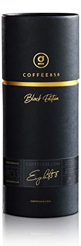 Espresso N°03 von coffee858 - 320g Edel-Röstung - Würziger Blend aus 70% Arabica mit 30% Robusta - Perfektes Kaffee-Geschenk